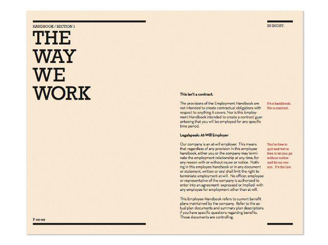 Love The In Short Column Employee Handbook Employee Handbook Template Manual Design