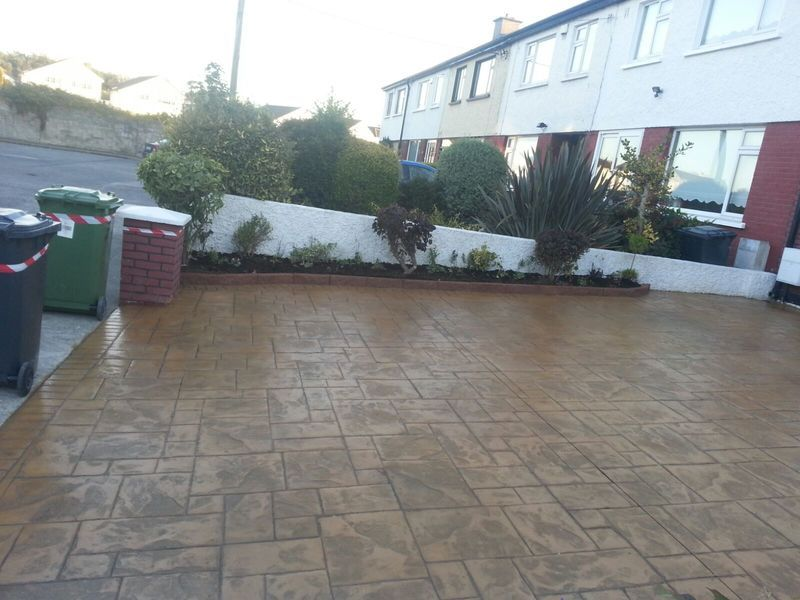 Concrete driveways in Dublin with a broad palette of