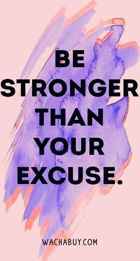 Sei stärker als deine Entschuldigung. | Hungerkontrolle, gesunde Essmotivation,...        Sei stärke...