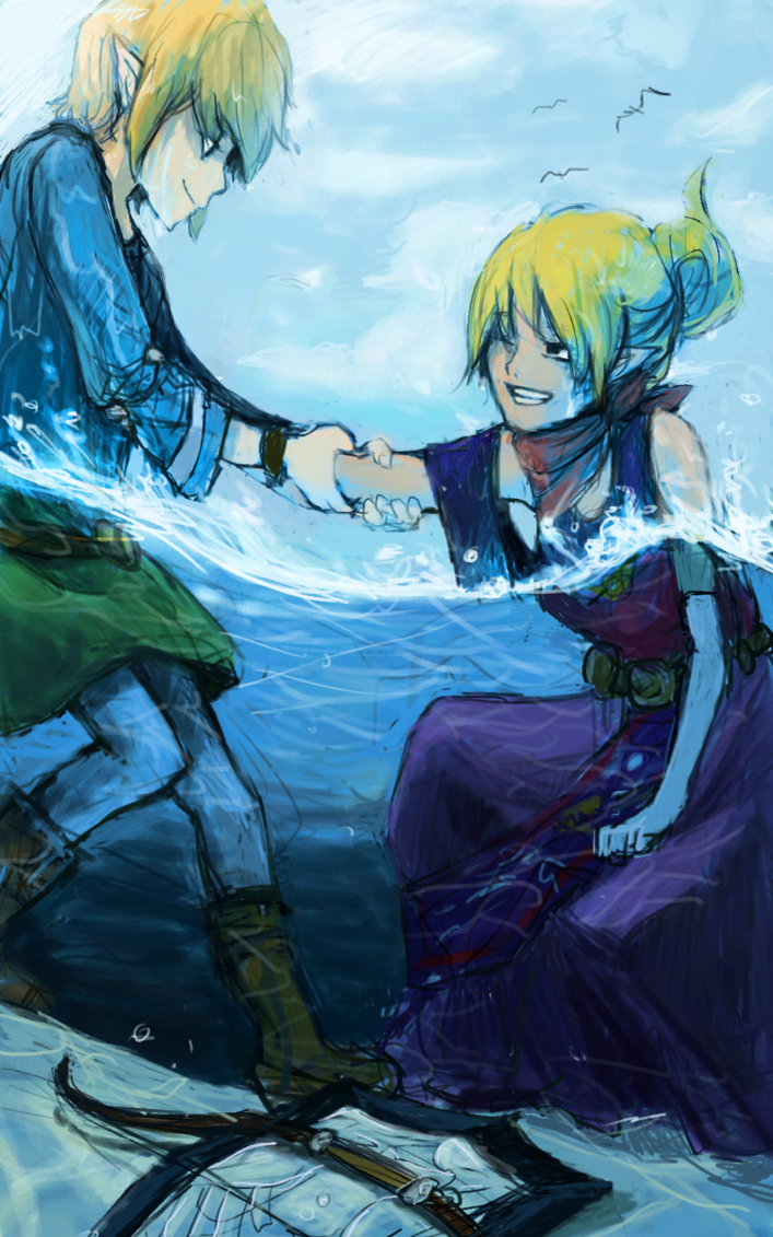 Legend of Zelda: Wind Waker. Its cool art because of the part where ...