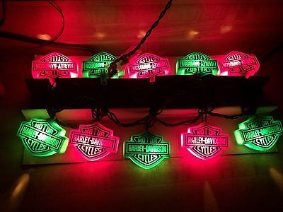 Rare Harley Davidson Christmas Lights