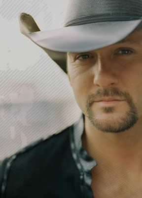 Tim McGraw: Grown Men Don't Cry, Something Like That, Just to See You Smile, Don't Take the Girl, Live Like You Were Dying, Where the Green Grass Grows