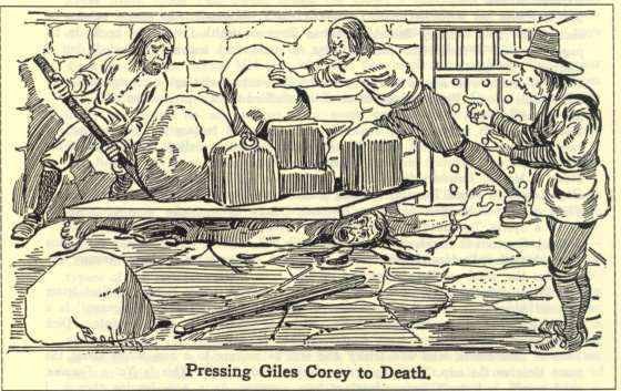 a brief look at giles corey and the salem witchcraft trials Ann putnam, jr, marcy lewis, abigail williams, mary walcott and elizabeth  hubbard accused giles corey of witchcraft in april of 1692 he pleaded not  guilty.