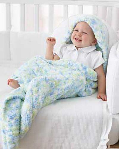 Ravelry: Baby Blanket with Hood pattern by Bernat Design Studio ...