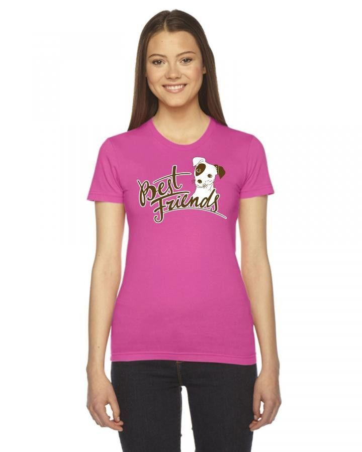 best friends dog Ladies Fitted T-Shirt