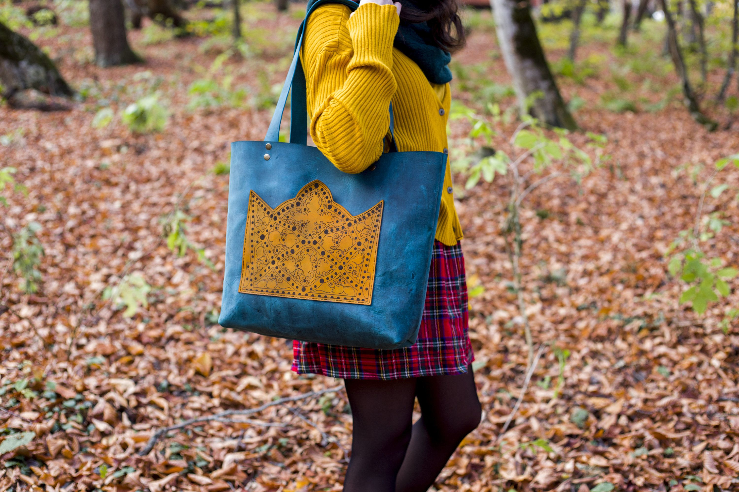 Tote Bag Handmade Natural Leather Bag The Most Beautiful Tote