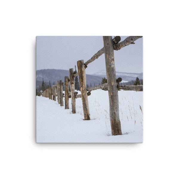 Fence in Winter Art Print