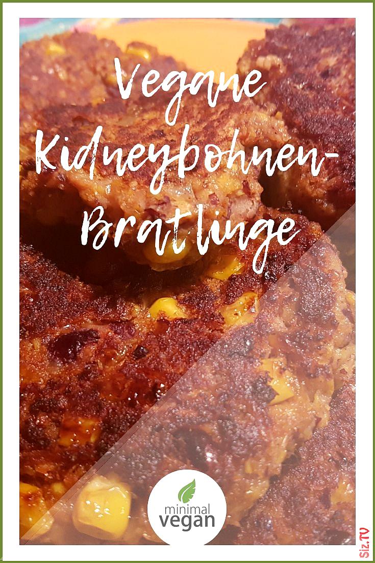 Rezept f r Bratlinge oder auch Burgerpatties mit Kidneybohnen und Mais  vegan  rein pflanzlich  mit...