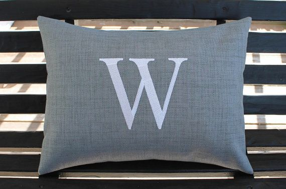 Monogrammed Outdoor Pillow Initial Cover In By DesignsByThem