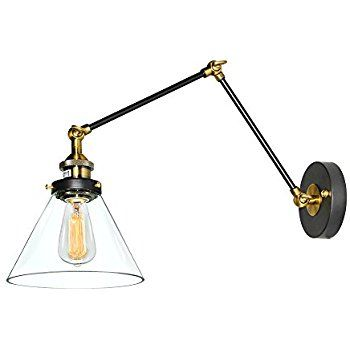 Amazon Globe Electric LeClair 1 Light Plug In Or Hardwire Industrial Wall SconcesSwing
