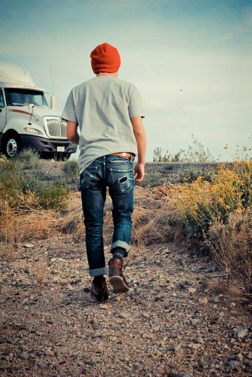 orange beanie denim boots tumblr style  0abb8dabe69