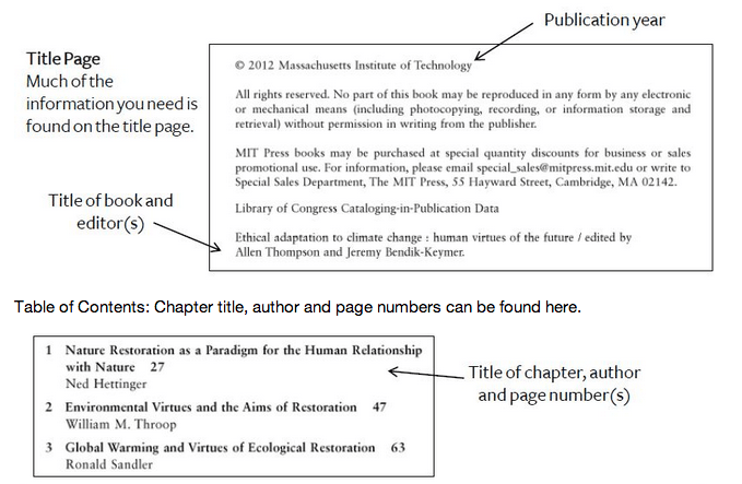 Apa Citation Style How To Format A Chapter Citation Citing A Book Essay Title Page Citation Format