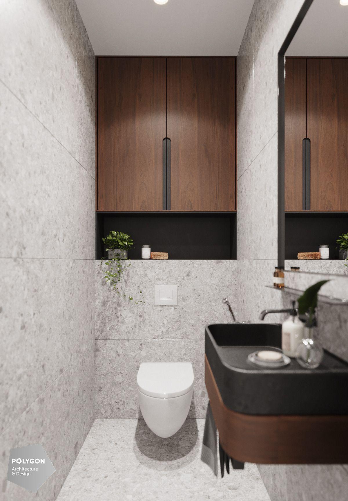 Roma Verbishchuk On Behance Small Toilet Room Architecture Bathroom Stylish Bathroom