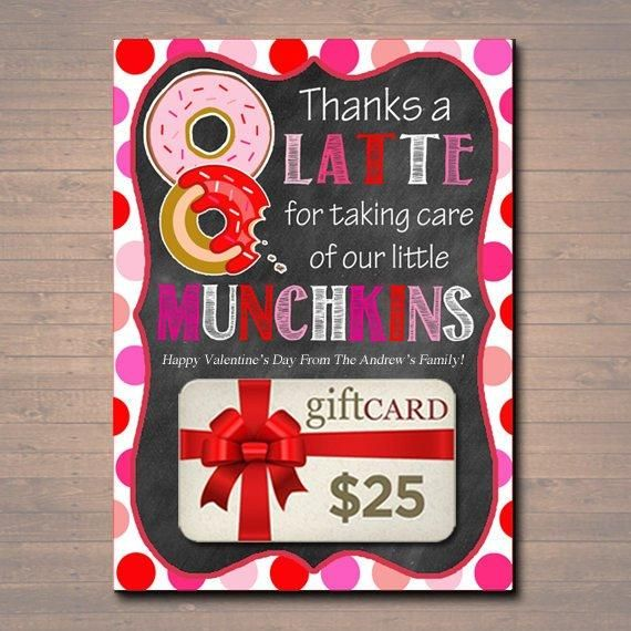 editable valentine's day thanks a latte coffee donut gift