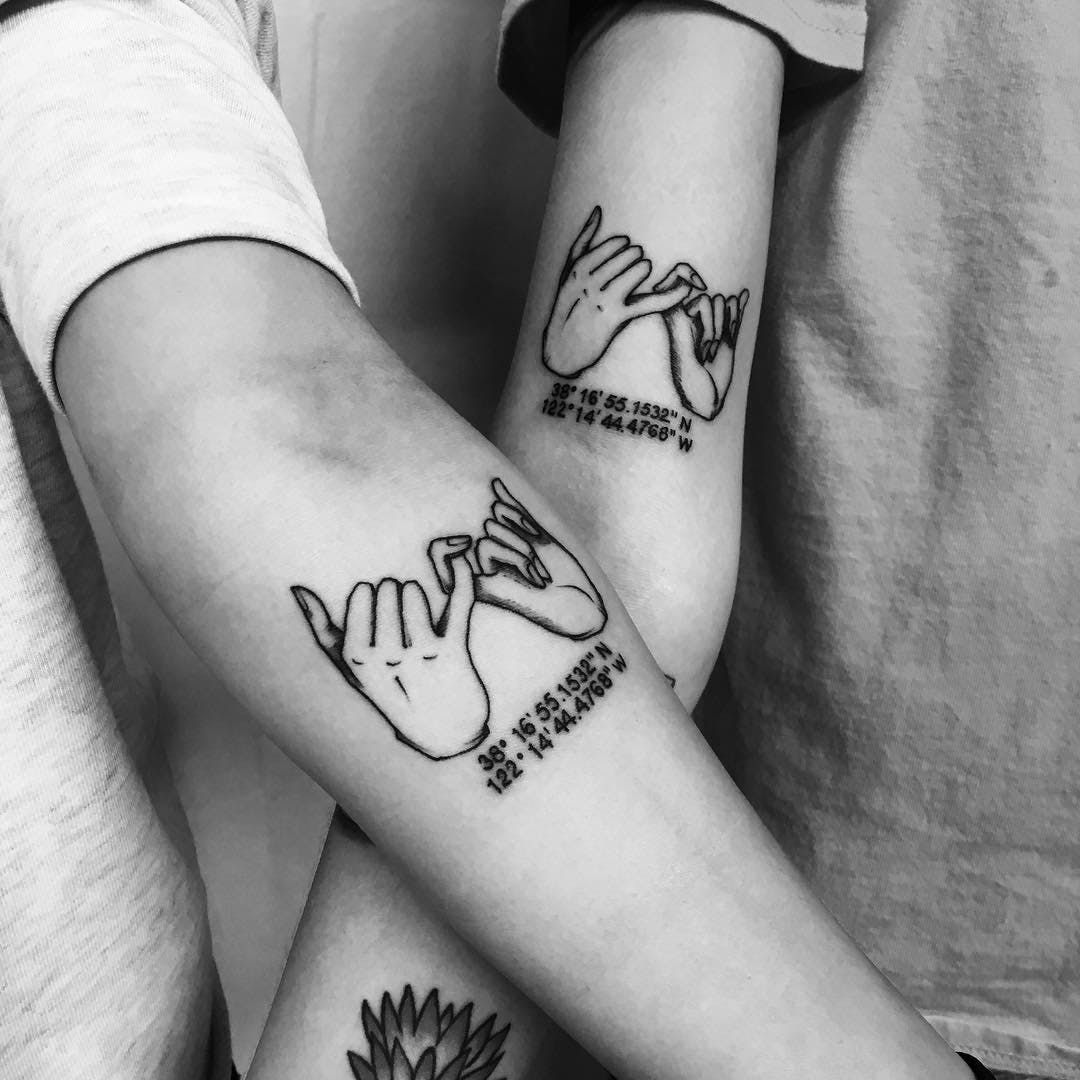 25 Best Friend Tattoos For You And Your Squad Friendship Tattoos Matching Tattoos Friend Tattoos