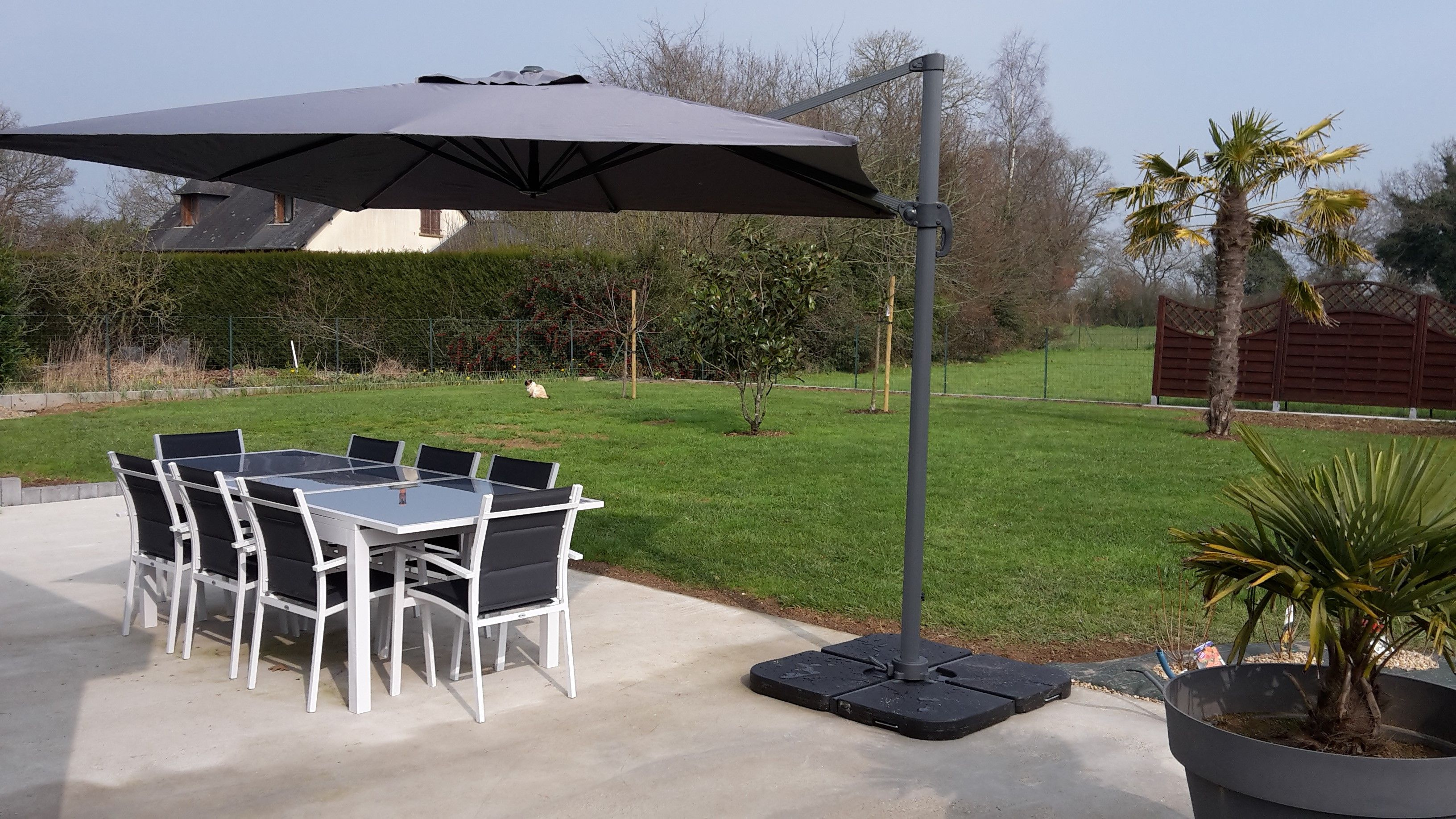 parasol falgos et table detroit alice 39 s garden parasol terrasse. Black Bedroom Furniture Sets. Home Design Ideas