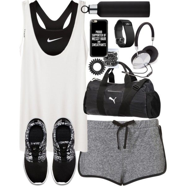 Outfit for the gym Nike shoe, June and Shopping