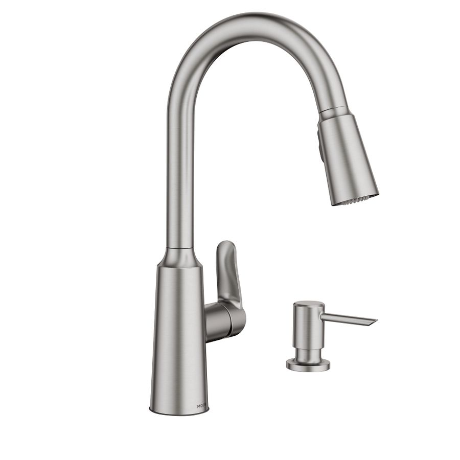 moen edwyn spot resist stainless 1handle pulldown kitchen faucet for kitchen