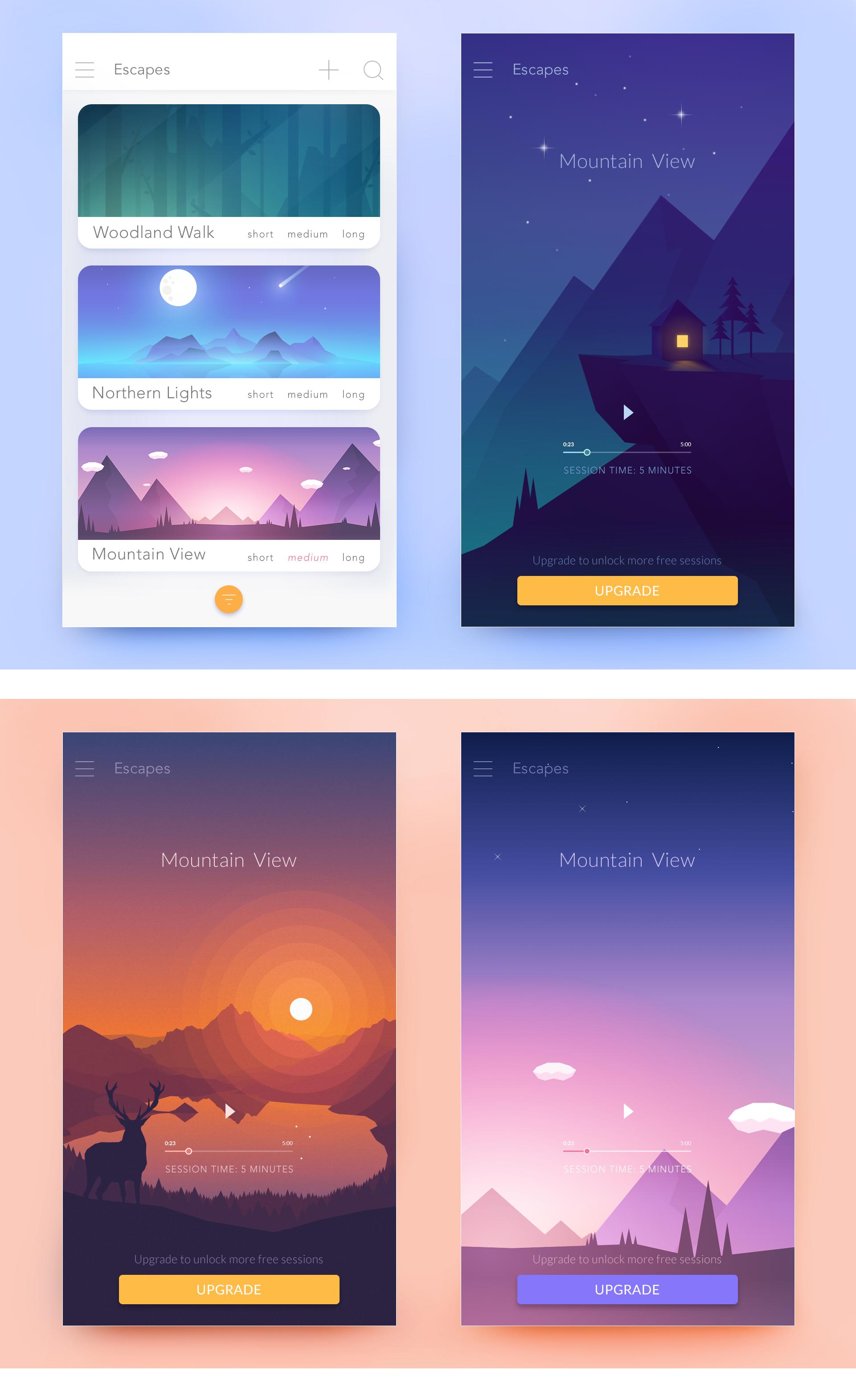 Meditation App UI design | App design contest #interfacedesign