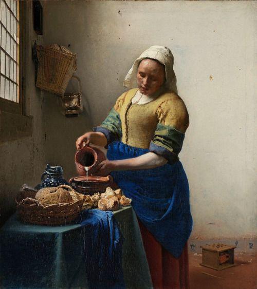 "COMMUNITY ARTSTICA CULTURALE""Google+in Allegato: LA PITTURA DI GENERE  Foto -Opera :La Lattaia  di Jan Vermeer - DAILYART"