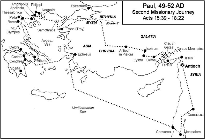 41+ Pauls second missionary journey coloring page free download