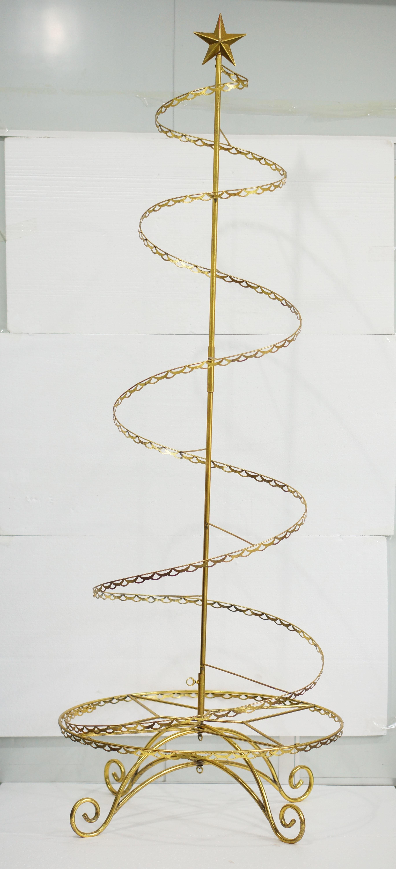 Gold Spiral Wire Ornament Tree Wire Ornaments Metal Ornament Tree Ornament Tree Display
