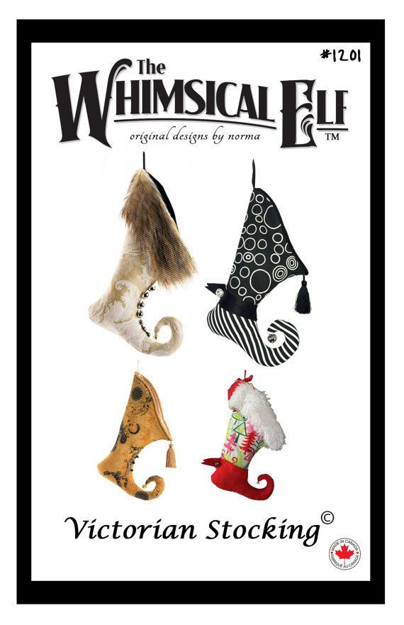 Victorian Christmas Stocking - Sewing Pattern | Stocking ideas ...