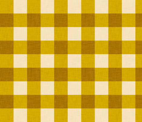 gingham mustard fabric by holli_zollinger on Spoonflower