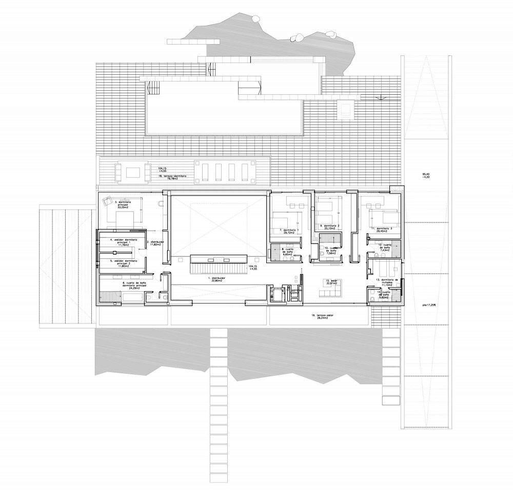 Plan, The Vivienda 19 by A-cero