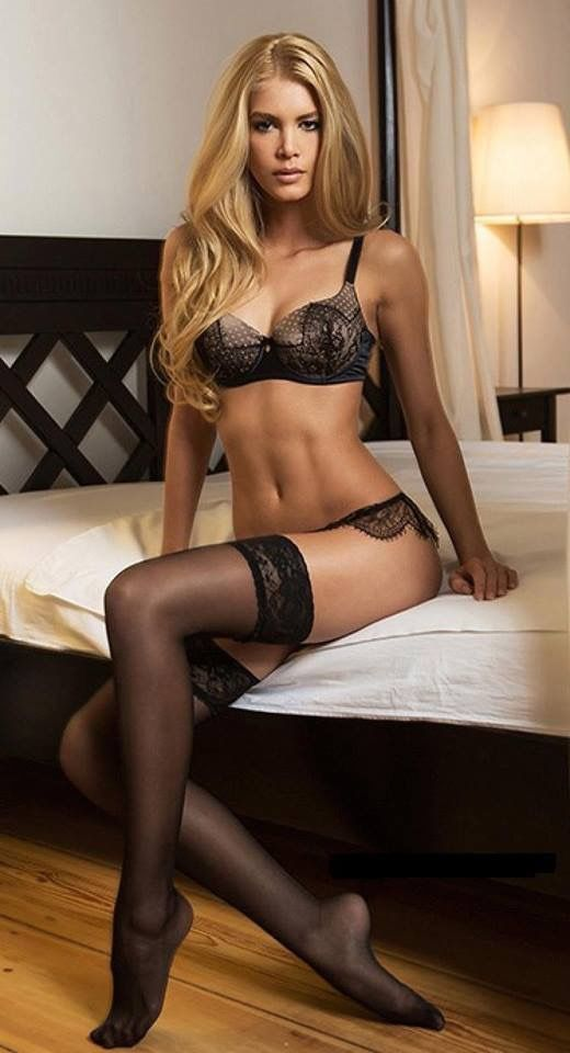 99f0ad4ec Sexy blonde wearing Stockings