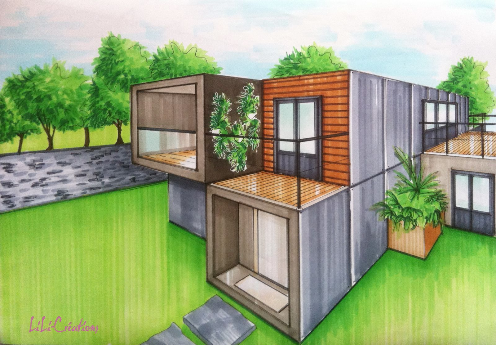 Containers dry en 2019 containers container house design shipping container homes et container - Container maison ...