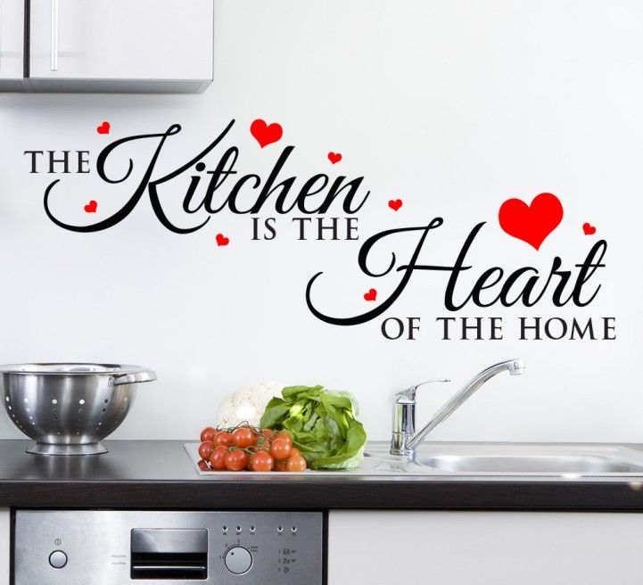 This Stylish Kitchen Is The Heart Of The Home Wall Sticker Is Available In One Or Two Colours A Kitchen Wall Art Stickers Kitchen Wall Stickers Kitchen Wall