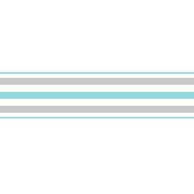 """WallPops! 0.5' x 196"""" Stripes Peel Wallpaper Border"""