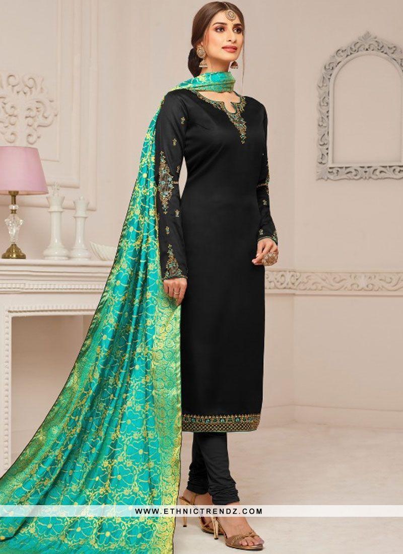 ddc81adeec Modernistic Cotton Silk Churidar Designer Suit   Salwar Kameez in ...
