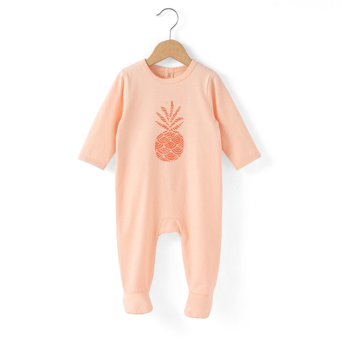 2ae90e1ea95d8 Pyjama coton imprimé ananas 0 mois-3 ans R Édition corail