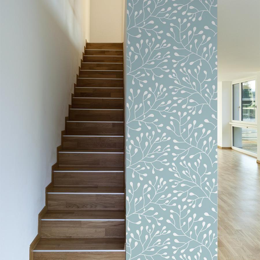 Budding Trees Tree Branch Wallpaper Tree Removable Wallpaper Wall Wallpaper
