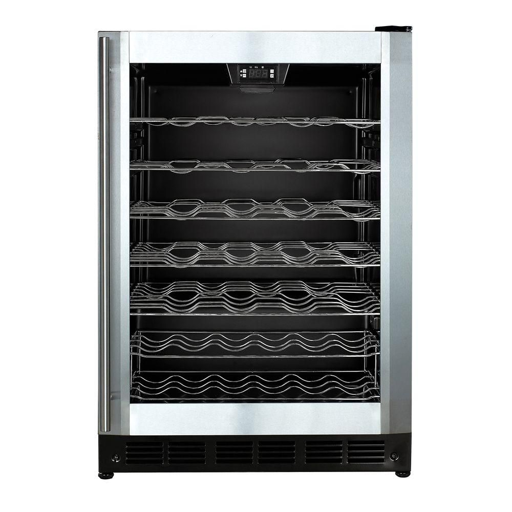 Magic Chef 50-Bottle Wine Cooler Stainless Door  sc 1 st  Pinterest : magic door wine - pezcame.com