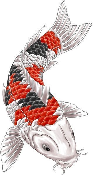 Mike S Koi Sleeve Chest Panel Unfinished Big Jpg 2400 3200: Pin By Mike Rosko On Animal Human Hybrid