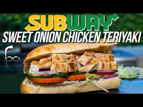 Subway inch sweet onion chicken teriyaki