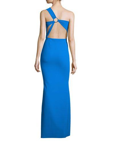 TBLJ7 La Petite Robe di Chiara Boni One-Shoulder Strappy-Back Gown