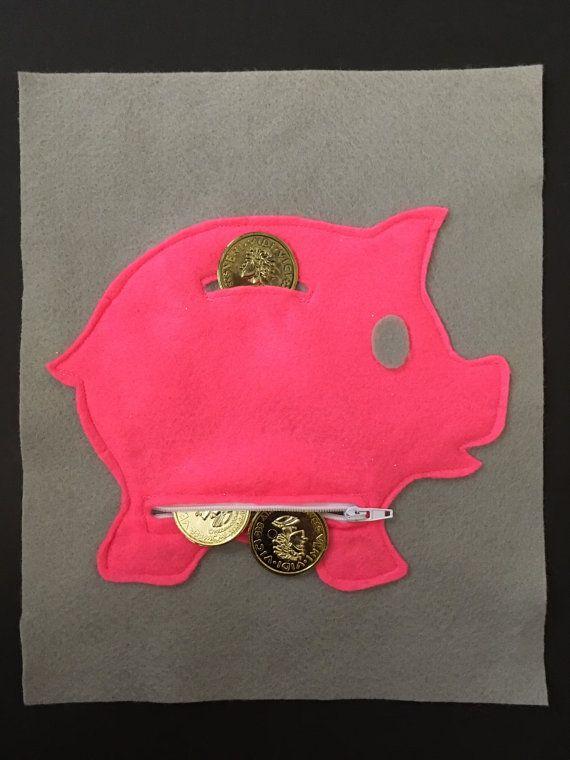 Sparschwein ruhigen Buchseite ruhigen Buch Kleinkind by ThePinkPenguinShop   Etsy