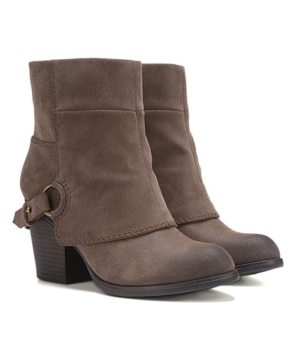 Look at this Taupe Liza Bootie on #zulily today!