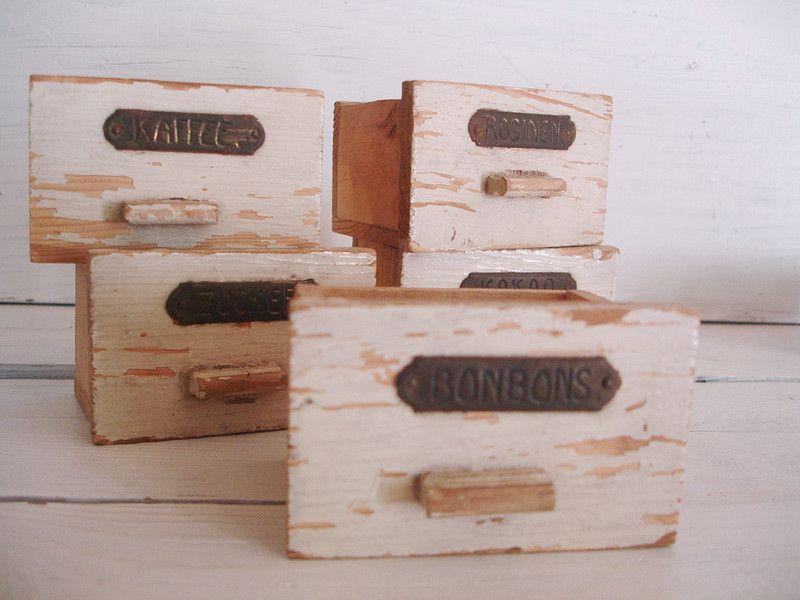 5 kleine Schubladen für Kaufladen - schubladen für küchenschränke