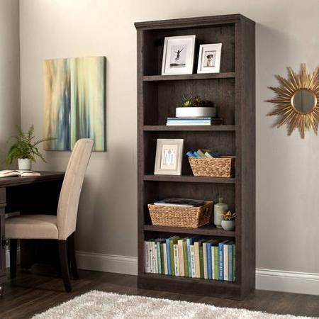 45) 3 estantes para libros de madera gris marrón Proyectos que
