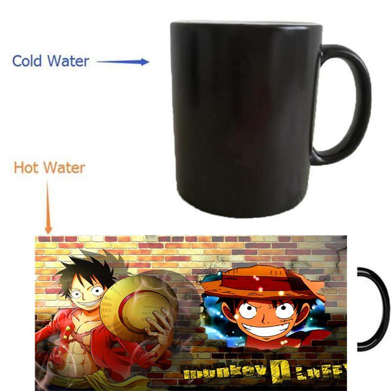 2a93954ec8d one piece Monkey D Luffy mugs morphing coffee mug heat reveal Heat ...