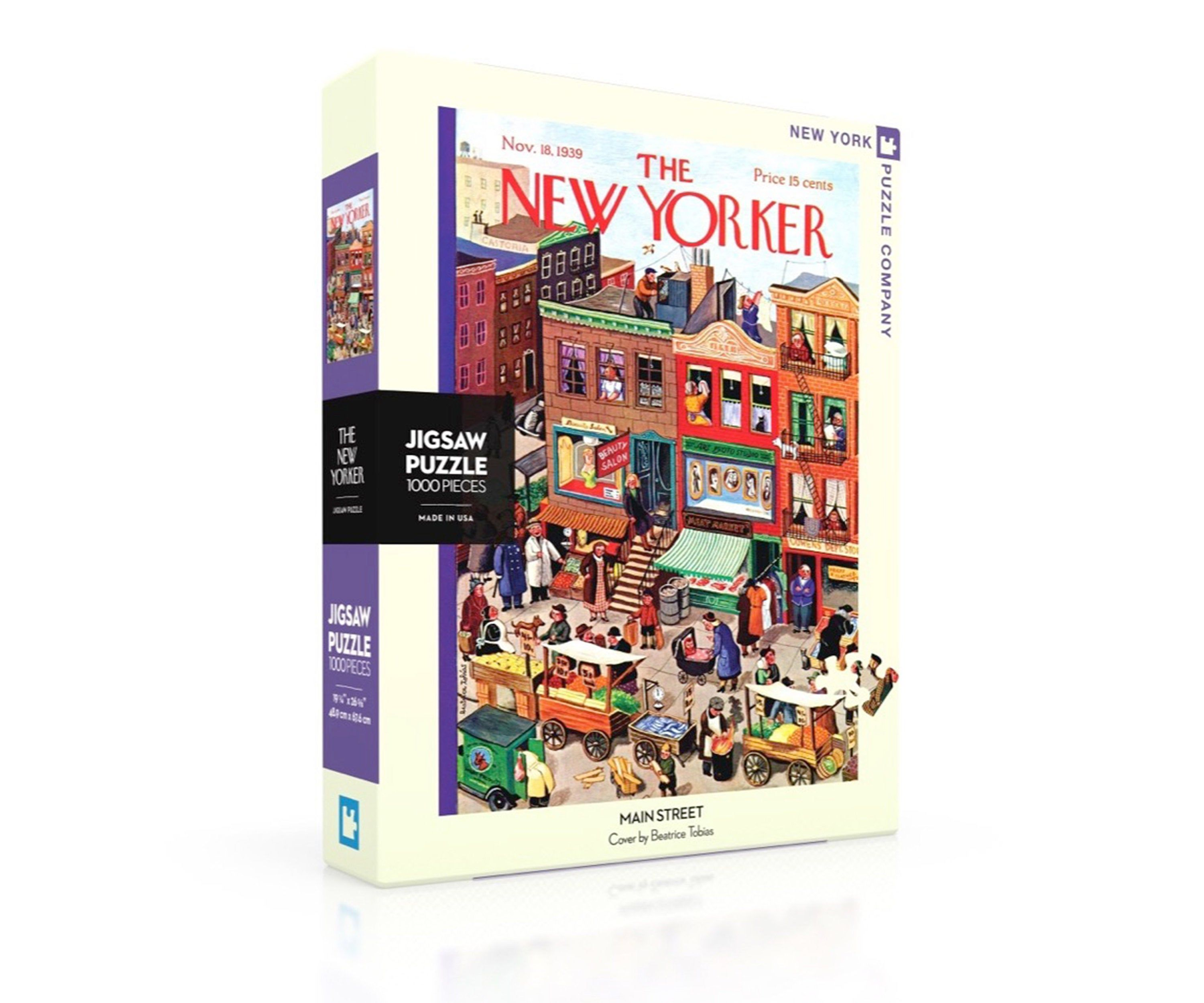 A Busy Day On Main Street 1000 Piece Jigsaw Puzzle In 2021 New Yorker Covers Main Street Jigsaw Puzzles