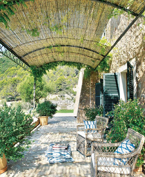 blue and white monday berdachungen garten terrasse und. Black Bedroom Furniture Sets. Home Design Ideas