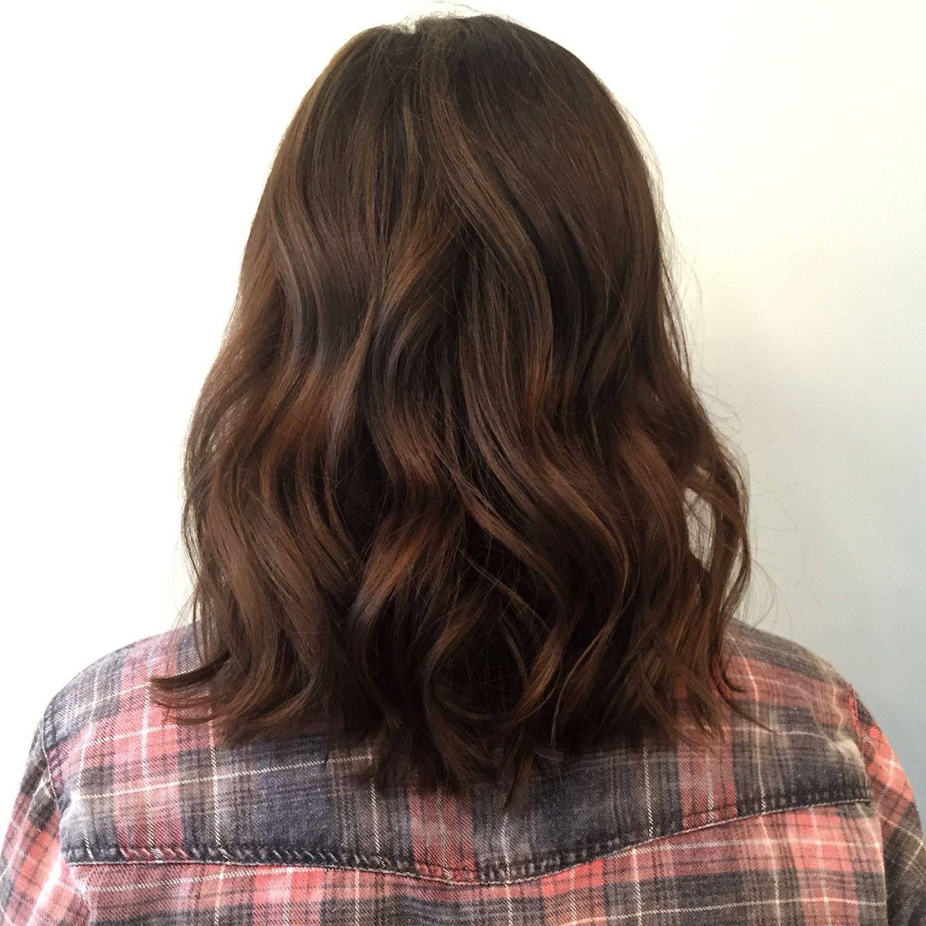Dimensional Bob Lob Brunette Balayage Hair Highlights Short Medium Portland Hair By Holly At Blueprint Modern Hair I Modern Hairstyles Hair Hacks Hair