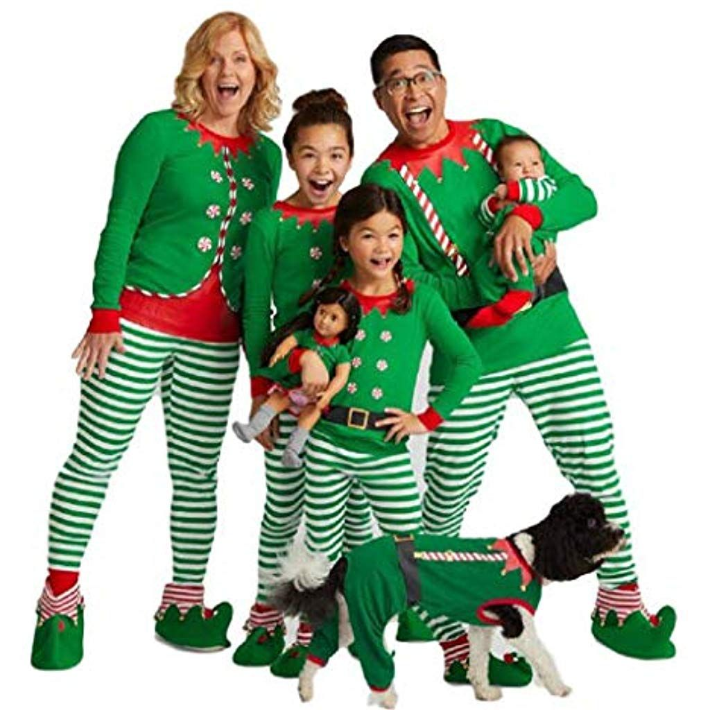 332c90d097 Matching Family Pjs Christmas Entire Family Jammies Cotton Pajamas Sets  Best Kids Sleepwear Xmas A17