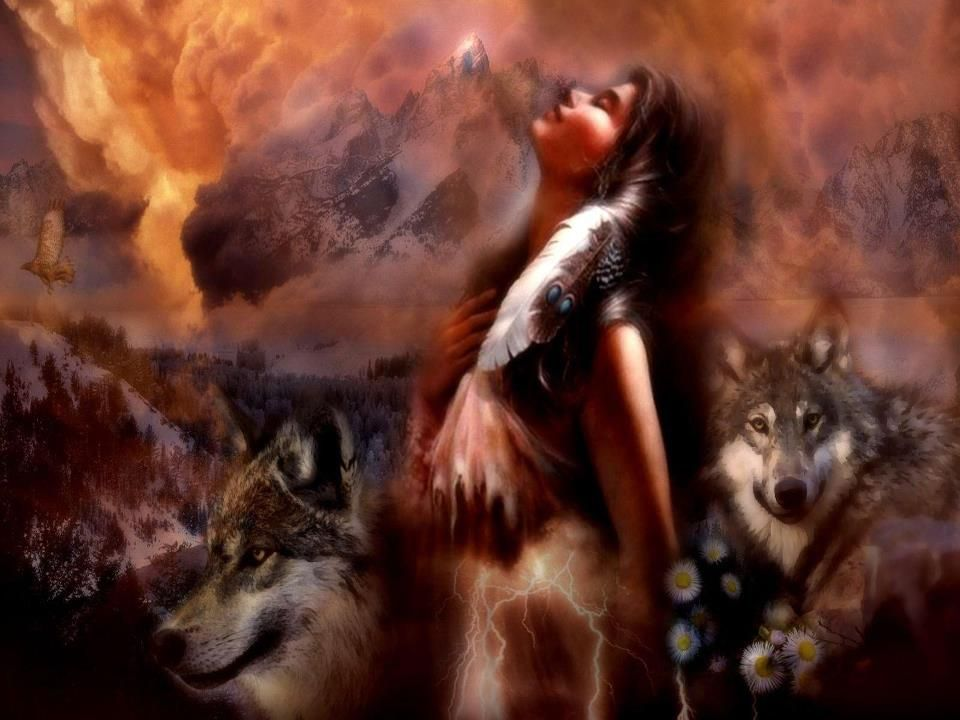 Image result for George RedHawk Motion Effects Pictures Native Americans and Wolves